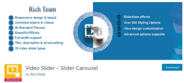 video slider carousel