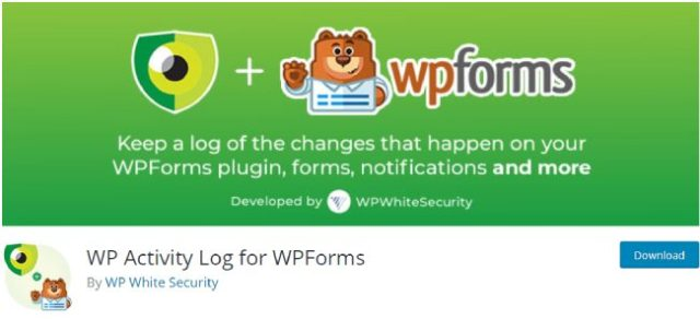 wp activity log for WPforms