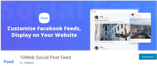 10 web social post feed