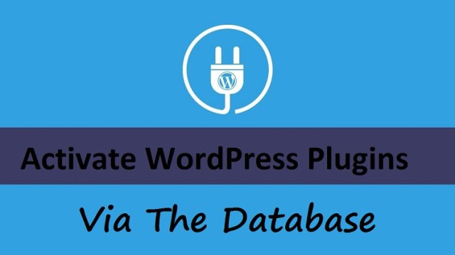 Activate WordPress Plugins Via The Database