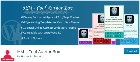 HM cool author box