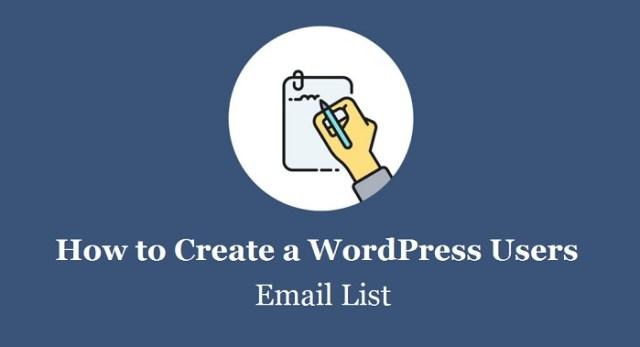 WordPress Users Email List