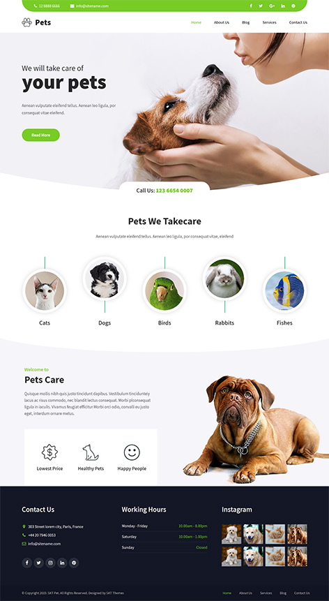 free animal WordPress theme