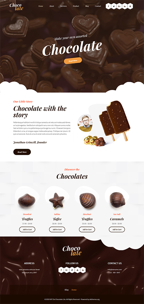 free chocolate WordPress theme