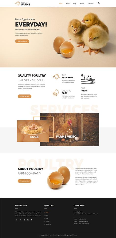 free poultry farm WordPress theme