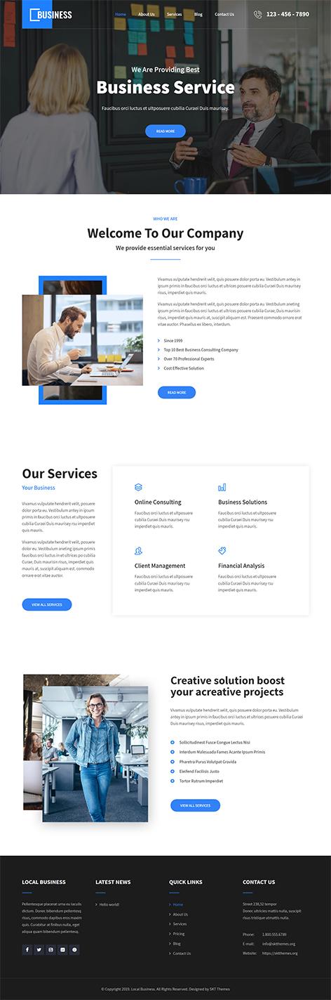 free simple business WordPress theme