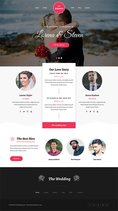free wedding planner WordPress theme