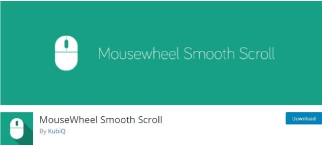 mouse wheel smooth scroll