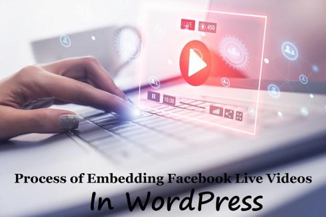 embed Facebook live videos