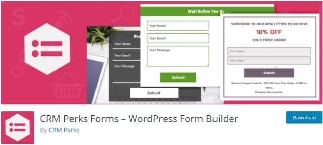 CRM Perks Forms – WordPress Form Builder