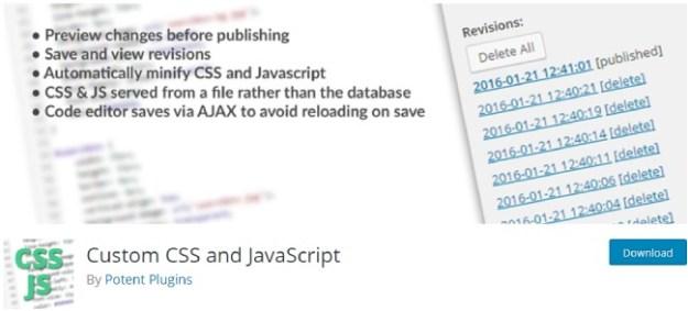 custom CSS and Javascript