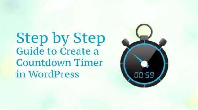Countdown Timer in WordPress
