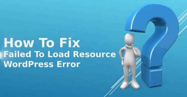 Failed To Load Resource