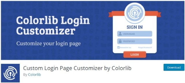 custom login by colorlib