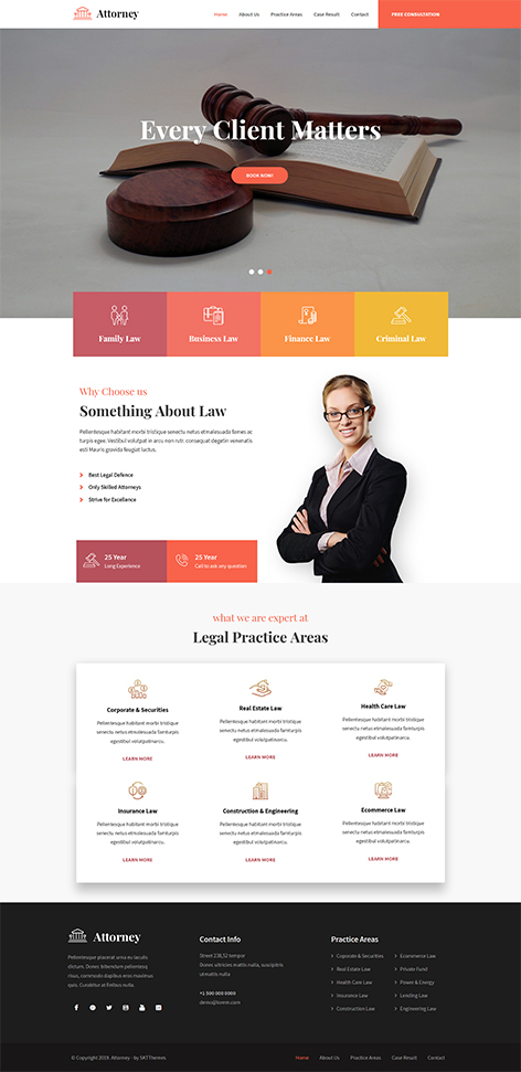 free law firm WordPress theme