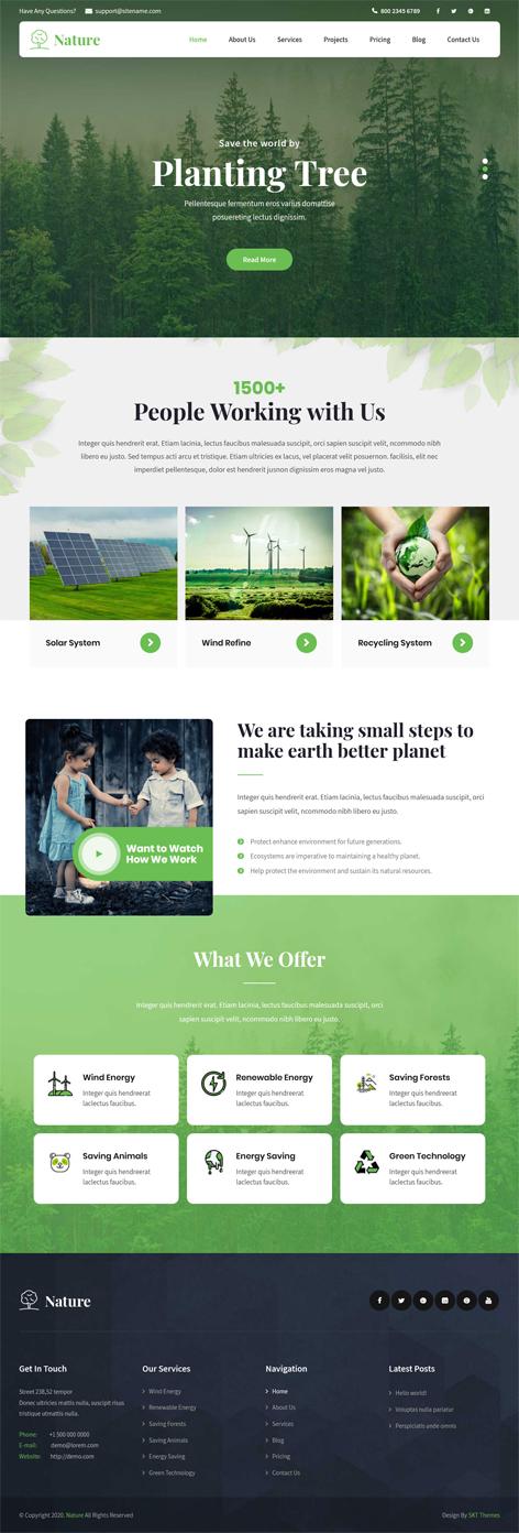 free nature WordPress theme