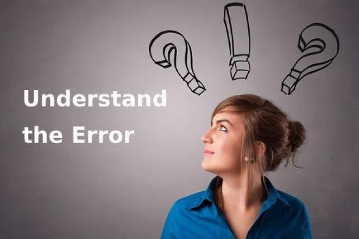 understanding the error