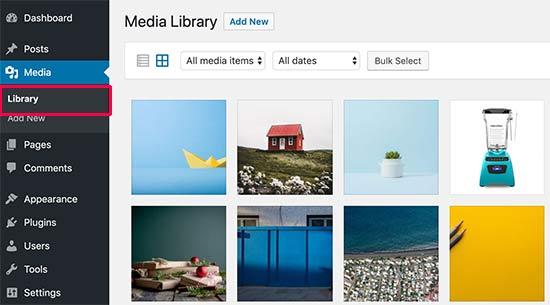 wp media library