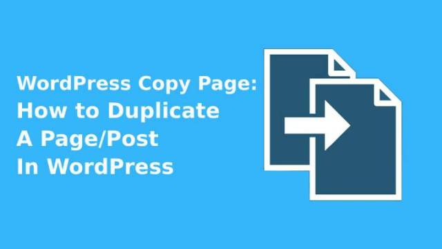 WordPress Copy Page