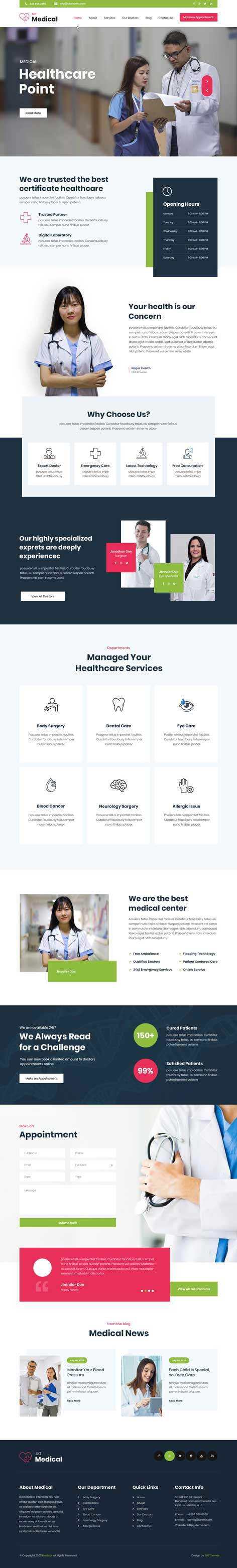 responsive medical WordPress theme