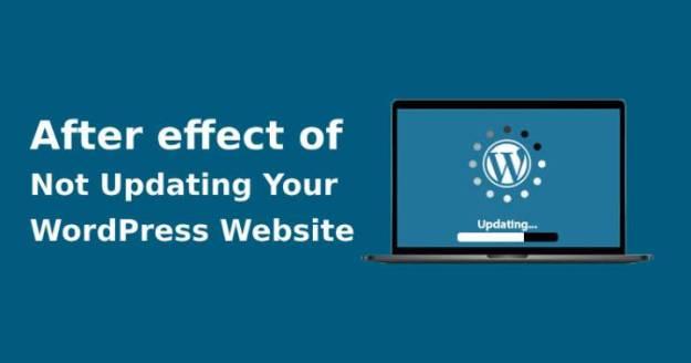 Not updating your WordPress website