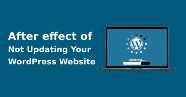 Not updating your WordPress website