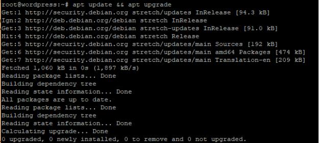 apt update && apt upgrade