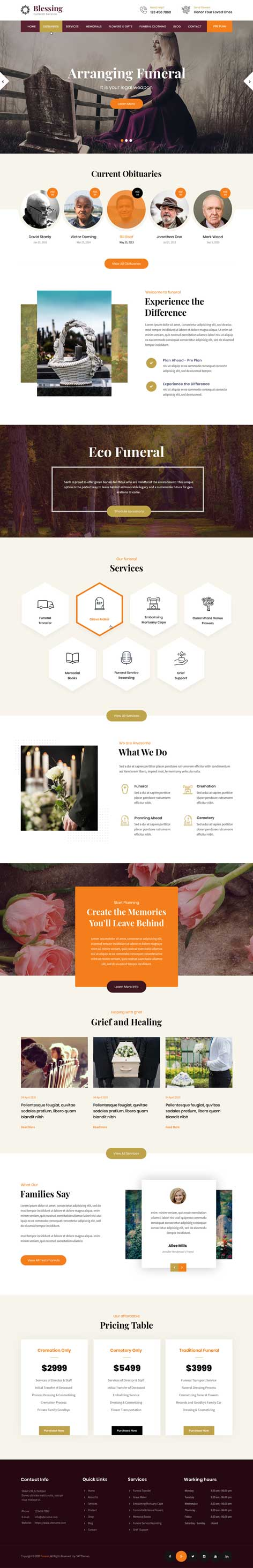 funeral home WordPress theme
