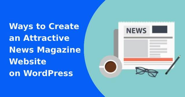 create news magazine website