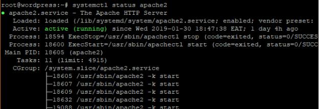 status apache2