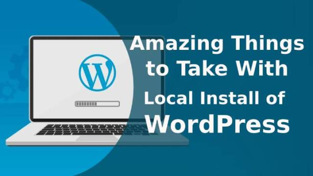 local install of WordPress