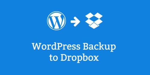 backup WordPress to Dropbox