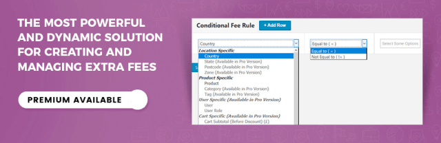 Extra Fees Plugin for WooCommerce