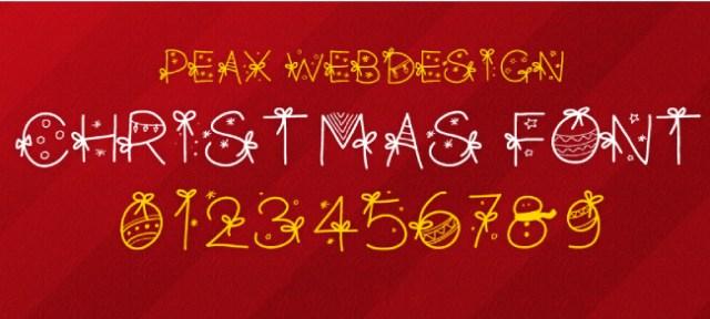 WP Christmas font