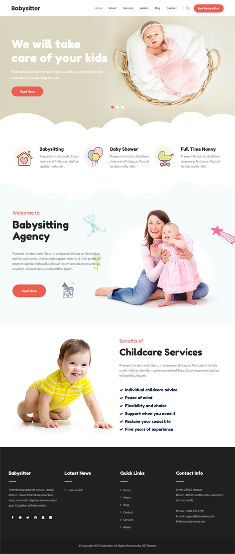 free kids store WordPress theme
