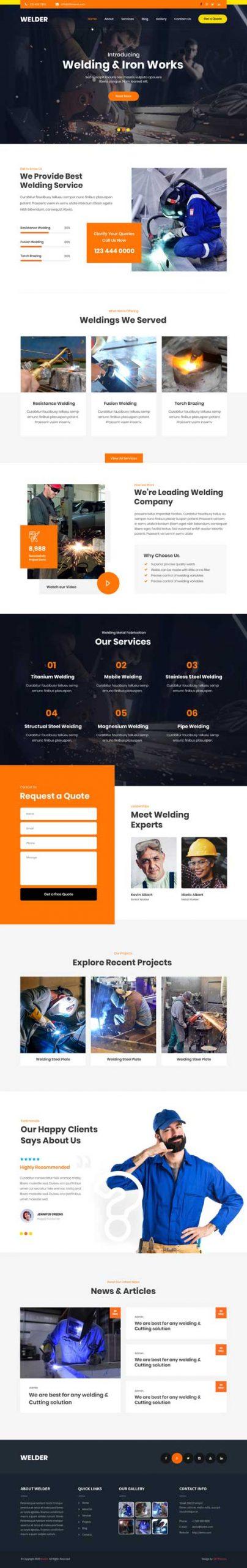 welding WordPress theme
