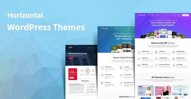 horizontal WordPress themes