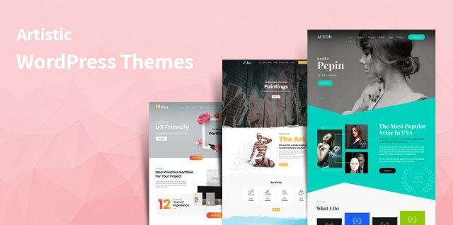 artistic WordPress themes