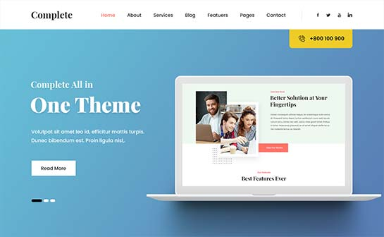 wordpress add featured image to page template