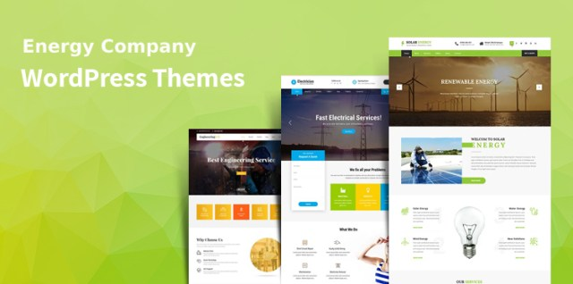 energy company WordPress themes