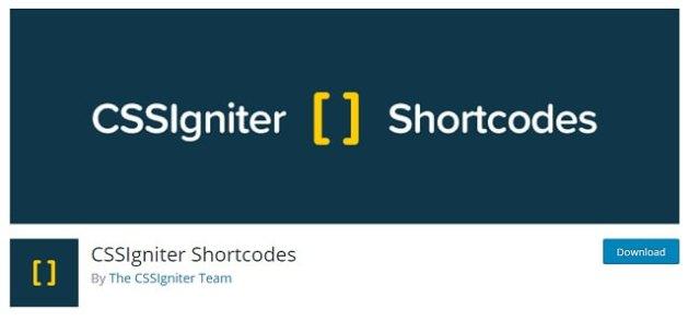 CSSIgniter Shortcodes