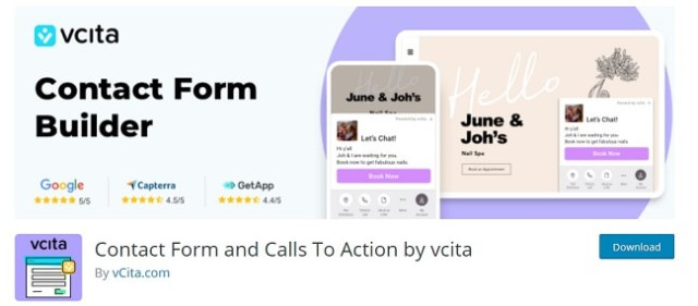 Contact form by vcita