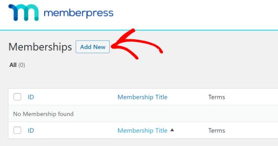 MemberPress new member