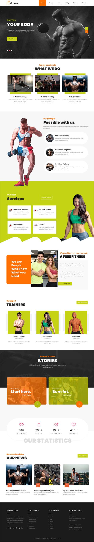 Fitness Gym WordPress theme