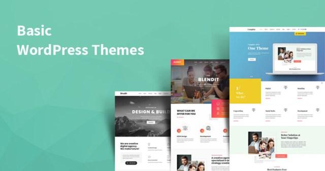 basic WordPress themes