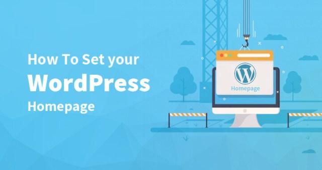 Set WordPress Homepage