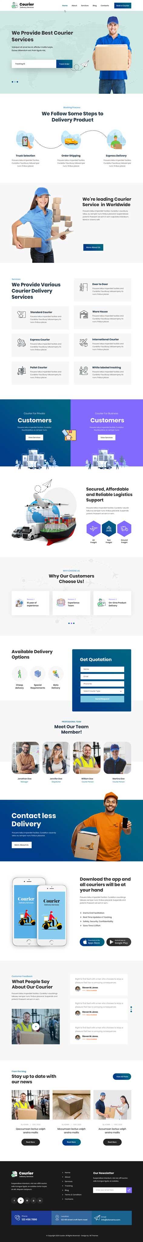 courier service WordPress theme