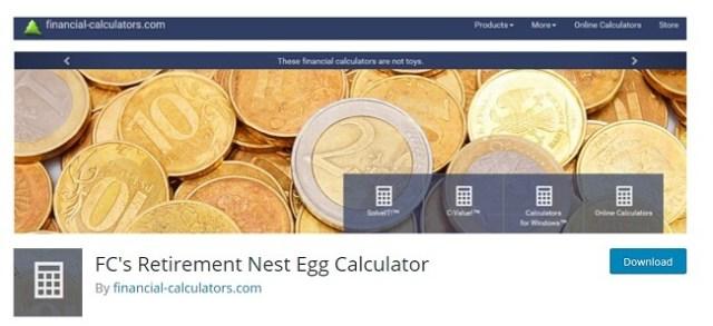 FC's Retirement Nest Egg Calculator