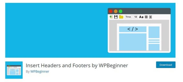 Insert header and footer by wpbeginner