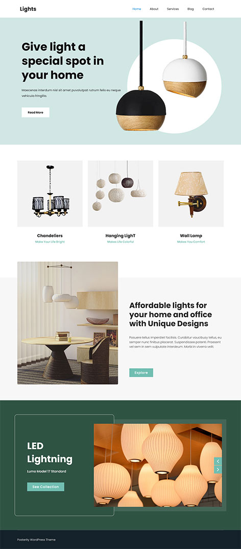 free lightning store WordPress theme